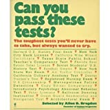 Can You Pass These Tests?, Allen D. Bragdon, 0060961864