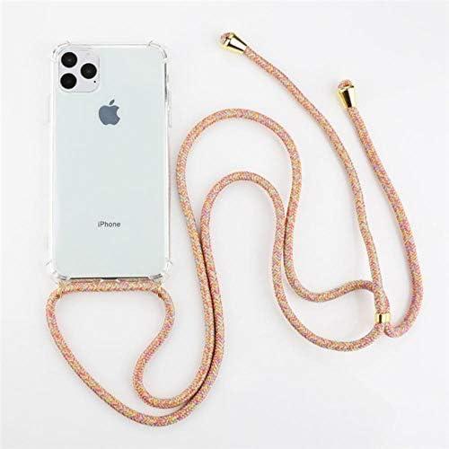 MARKOO Effen kleur koord ketting ketting Lanyard telefoon geval voor iPhone 11 Pro X Xr Xs Max 7 8 Plus zachte Clear Back Case voor draagtas kleurrijk voor iPhone 11