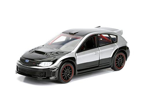 Jada Toys Fast and Furious: Brian's Subaru Impreza WRX STI diecast Collectible car Vehicle, Silver and Black, 1:32 Scale -  98507