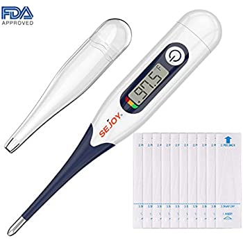 Digital Oral Medical Thermometer (for Fever Adults Baby Children Infants Pets Termometro), SEJOY