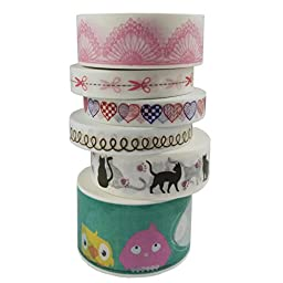 MOEUP 6 x Washi Tape DIY Different Styles (AFDR-A01)