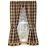 Black Farmhouse Star 63' Curtain Panels