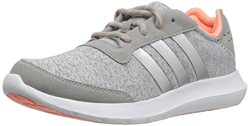 Adidas Performance Women's Element Refresh W Running Shoe, Medium Grey Heather/Matte Silver/Medium Grey Heather Solid Grey, 8.5 M US
