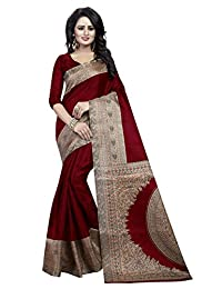 Indian Cottage Women's Ethnic Beautiful Printed Khadi Silk Kalamkari Saree