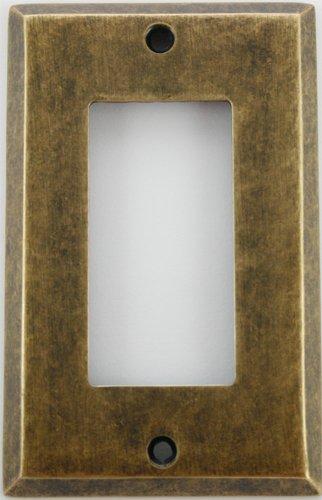 Brass 1 Dark Antique (Classic Accents Aged (Matte) Antique Brass 1 Gang GFI/Rocker Wall Plate)