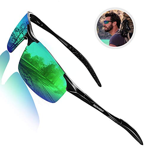ROCKNIGHT Mens Sunglasses Polarized Shades for Men Green Travel Hiking Outdoor Sunglasses Fishing Golf Gifts for ()
