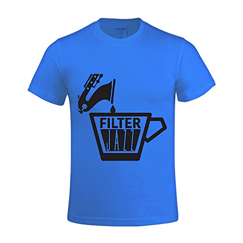 [Filter Jazz Coffee Shop Jazz Men T Shirts Crew Neck Digital Printed Blue] (Mens Disco Jumpsuit)