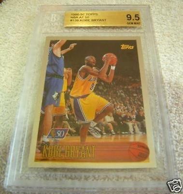 1996 Topps Nba At 50 Foil Rookie #138 Kobe Bryant Bgs 9.5 Gem Mint POP 73 - Bgs 9.5 Gem Mint