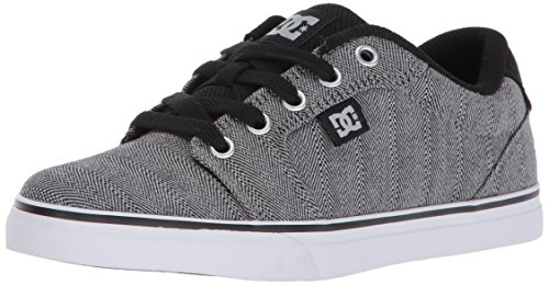 DC Boys' Anvil TX SE, Black/Grey, 7 M US Big Kid