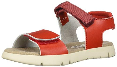 Camper Kids Girls' Mira Sandal Kids K800198 Flat, red, 34 M EU Big (3 US)