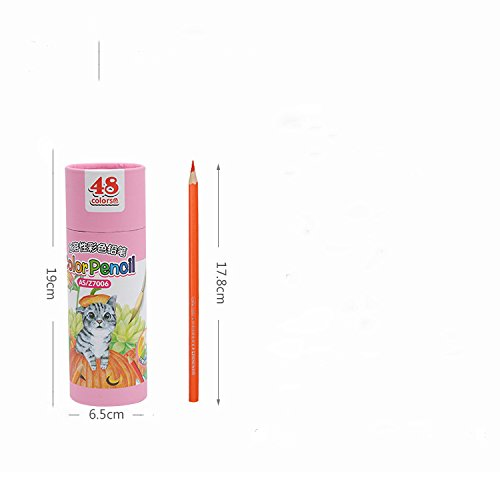 48-color Colored Pencils/ Drawing Pencils for Artist Sketch/Coloring Book(Not Included) (pink) Photo #4