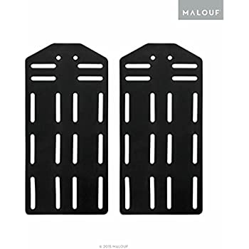 structures by malouf king bed frame headboard bracket plate modi set of 2