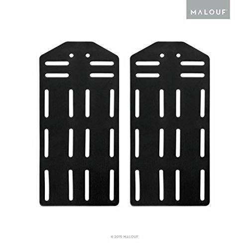 MALOUF STRUCTURES King Bed Frame Headboard Bracket Modification Plate Modi, Set of 2 ()