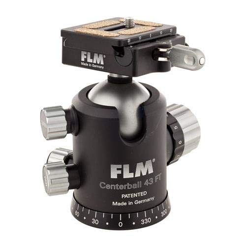 FLM CB-43 FTR Pro Ballhead with QPR-50 Quick Release Clamp and Camera Plate ()