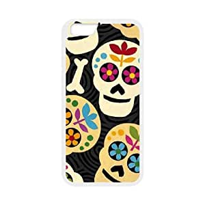 Black Background with Skeletons iPhone 6 4.7 Inch Cell Phone Case White phone component AU_587668