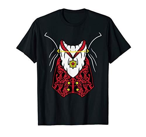 Dracula Vampire Uniform DIY Easy Lazy Halloween Costume T-Shirt