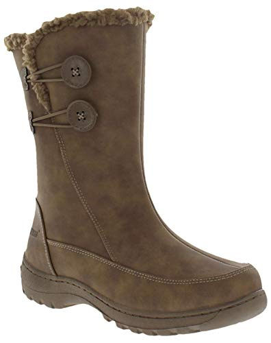 - Weatherproof Womens Miranda Water Resistant Snow Boots, Brown, 8 B(M) US