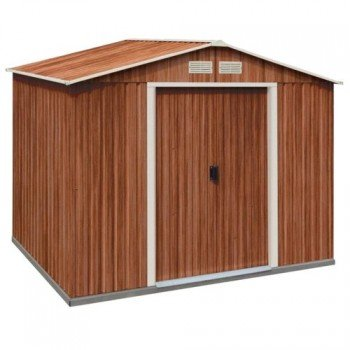 De metal caseta de jardín de casa dispositivos Titan 8 x 6 meter en imitación de