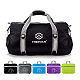 Foldable Sports Duffel Small Gym bag for Men Women Kids,Lightweight Waterproof with Pockets