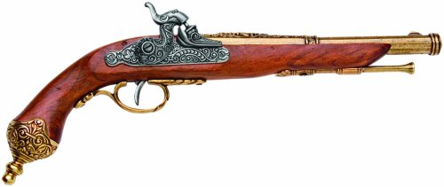 Percussion Pistol (Denix 1825 Italian Percussion Pistol, Brass - Non-Firing)