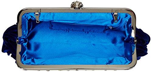Shoulder Long Tote Faux VISKEY Bag Blue Clutch Wallet Women's HandBag Hobo Fur Purse Uxzzcw5qRZ