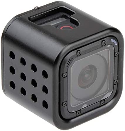 CAOMING Housing Shell CNC Aluminum Alloy Protective Cage with Insurance Back Cover for GoPro HERO5 Session //HERO4 Session//Hero Session Durable Color : Red