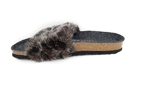 Leo Soft Fur Ravenna N Sandals Grey Footbed JOE Faux Leo JOYCE qx4FwfzX