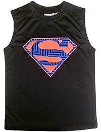 Boys Sleeveless Muscle Tank Top T-shirt Navy - Superman