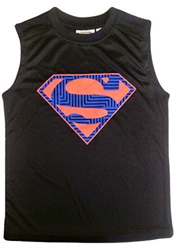 (Bundled Brands Boys Sleeveless Muscle Tank Top T-Shirt (Small 6/7, Blue - Superman))