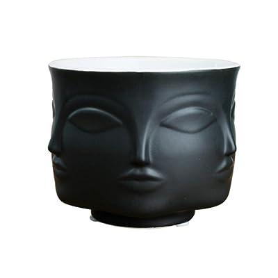 Ceramic Flower Pot, Flowerpot Plants Holder Vase, Human Face Home Decoration Indoor Decor: Arts, Crafts & Sewing