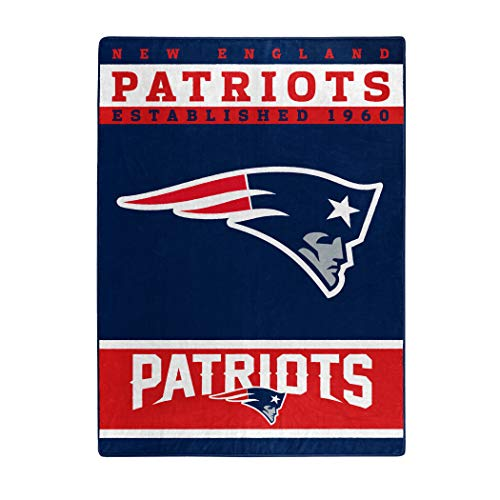 New Blanket Patriots Soft England (The Northwest Company Officially Licensed NFL New England Patriots 12th Man Plush Raschel Throw Blanket, 60