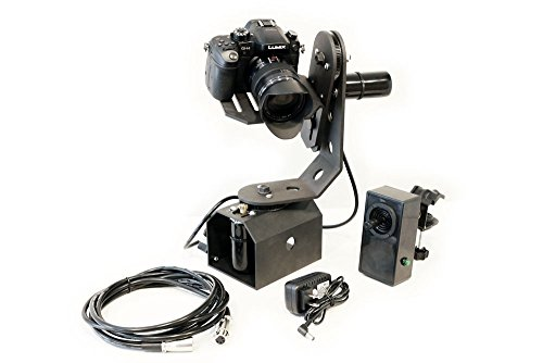 TigerTilt Motorized 360 Pan and Tilt Gimbal Head for Tripods, Cranes & Jibs - Battery Powered - Supports Cameras up to 8 LBS