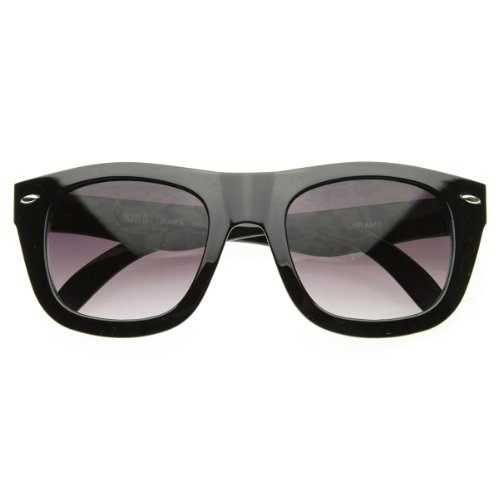zeroUV - New Modern Thick Curved Bold Frame Indie Emo Fashion Horn Rimmed Sunglasses - Emo Frames Glasses