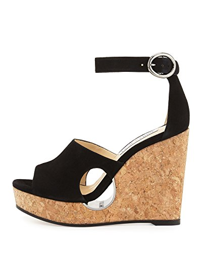 Jimmy-Choo-Neyo-SuedeCork-Ankle-Wrap-Wedge-Sandal-Black-39