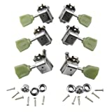 IKN 3L3R Deluxe Guitar Tuning Pegs Machine Head Tuners for Gibson Les Paul Style Replacement, Chrome