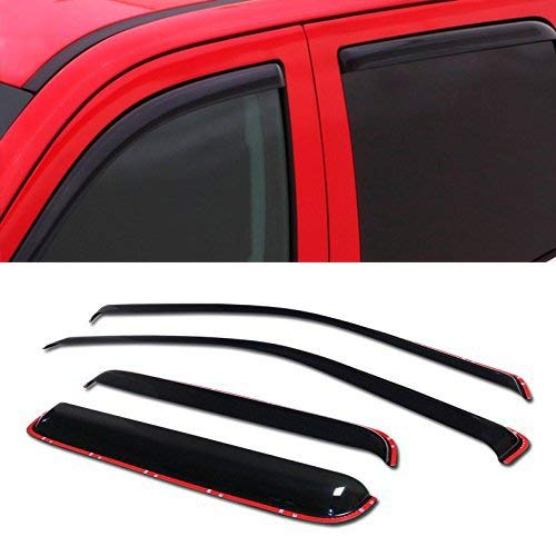 - R&L Racing in-Channel Window Visor 4PC 2004-2012 for Chevy Colorado/GMC Canyon Crew Cab