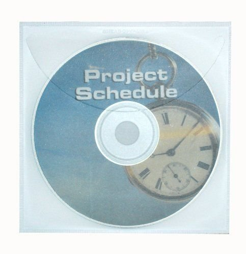 Smead Self-Adhesive Poly CD/DVD Pocket, Clear, 10 per Pack ()