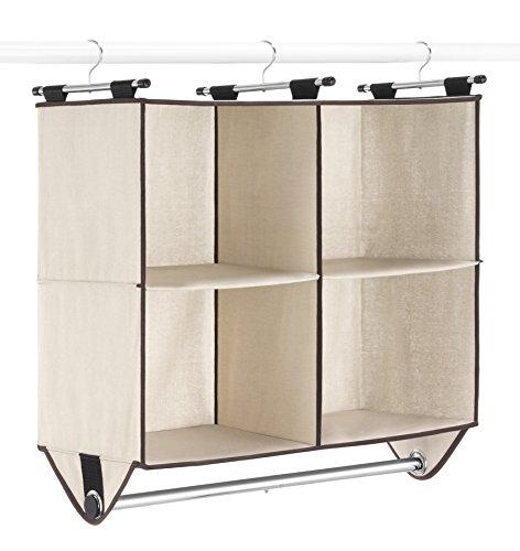 Section Four (Whitmor 4-Section Closet Organizer W/Rod, Canvas)