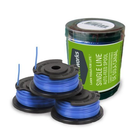 Greenwòrks 29252 0.065 x 20 ft. String Trimmer Single Line Replacement Spool (3-Pack)