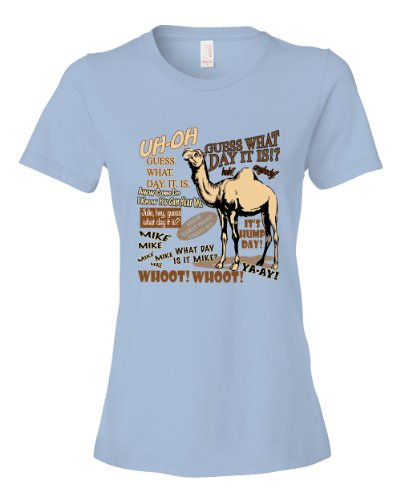 Hump Day Guess What Day It Is Commercial Camel Tee Shirt Womens M lightblue U