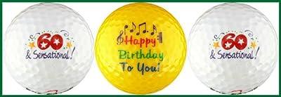 Sixty & Sensational Birthday Golf Ball Gift Set