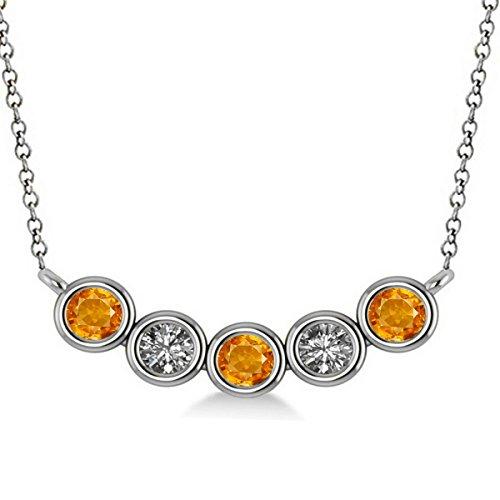 Curved Diamond Necklace - 8