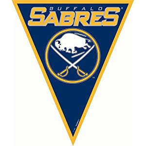 Amscan Super Cool Buffalo Sabres NHL Pennant Banner, 12', Blue/Yellow from TradeMart Inc.