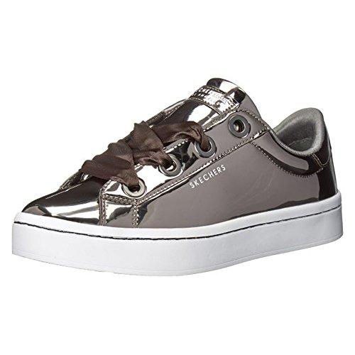 Leather Patent Sneakers (Skecher Street Women's Hi-Lite-Metallic Patent Sneaker,pewter,8.5 M US)