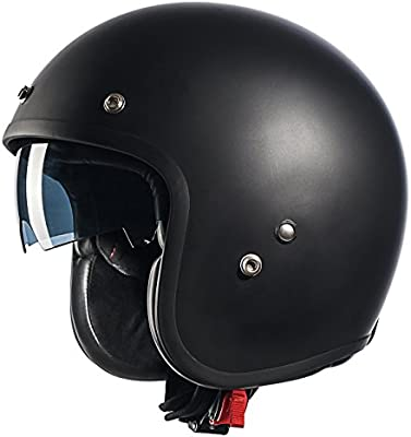 08026f06 GLX Fiberglass 3/4 Motorcycle Cruiser Moped Scooter Open Face Helmet Bobber  Style DOT Approved