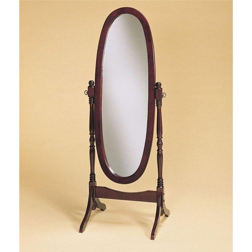 (Crown Mark Cheval Mirror, Brown (Cherry)