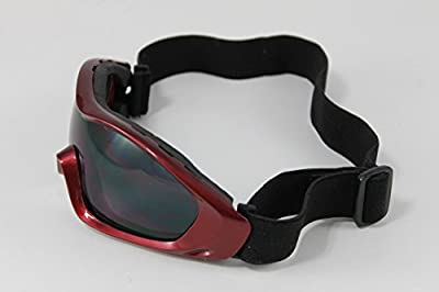 Youth Motorcycle ATV DIRT BIKE RACING SKI GOGGLES Color Lens Glasses 504RED US Seller