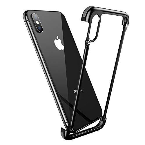 OATSBASF Corner Bumper Case for iPhone X, Aluminum Metal Shock Resistant Corner Bumpers Minimalist Case