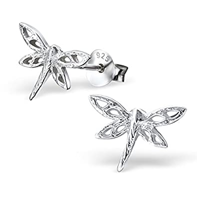 Laimons Ladies' Earrings Ladies' Jewellery dragonfly glossy zirconia 925 Sterling silver 1aGWTTqHv