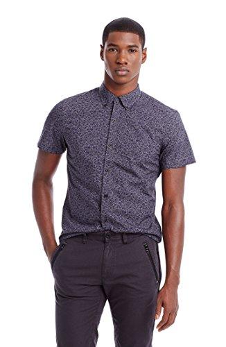 Armani Exchange Mens Short Sleeve Floral Shirt